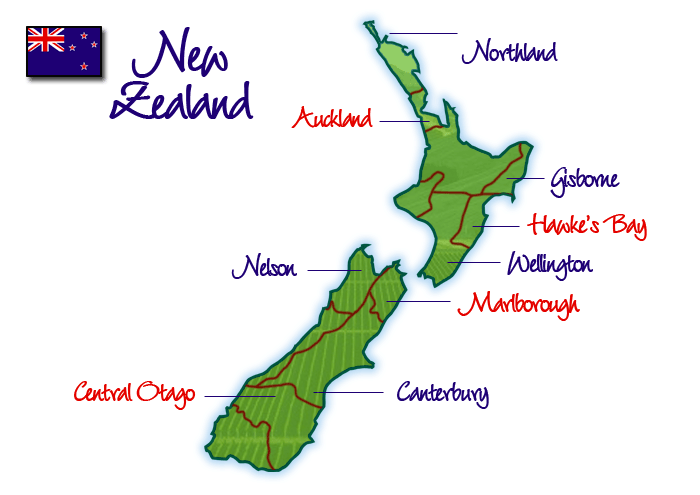 Wine Regions of New Zealand